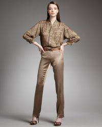 Ralph Lauren | Brown Heloise Charmeuse Pants | Lyst