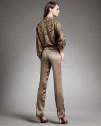 Ralph Lauren - Brown Heloise Charmeuse Pants - Lyst