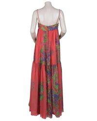 Halston - Multicolor Floral Printed Maxi Dress - Lyst
