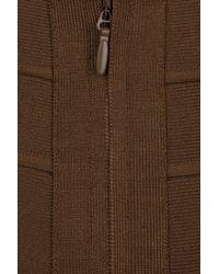 Hervé Léger | Brown High-waisted Bandage Skirt | Lyst