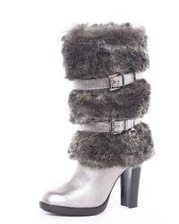 MICHAEL Michael Kors - Brown Michael Michael Kors Carlie Faux-fur Boot - Lyst