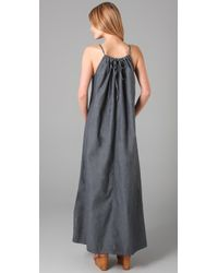 Pray For Mother Nature | Blue Chambray Maxi Dress | Lyst