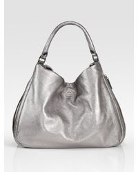 Tory Burch | Kellan Metallic Hobo Bag | Lyst