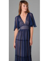 Twelfth Street Cynthia Vincent | Purple Tiered Long Dress | Lyst