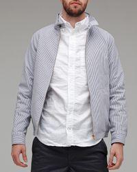 A.P.C. | Blue Seersucker Jacket for Men | Lyst