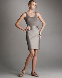 Armani | Metallic Classic Faille Skirt | Lyst