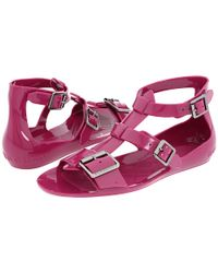 Burberry | Pink Jelly Gladiator Sandal | Lyst