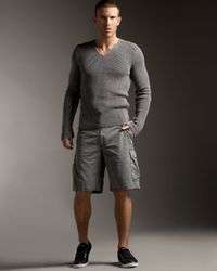 Dolce & Gabbana | Gray Raw-edge Cargo Shorts for Men | Lyst