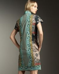 Etro - Black Border-print Shirtdress - Lyst