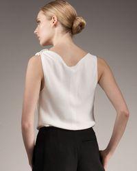 Giorgio Armani | White Cowl-neck Blouse | Lyst
