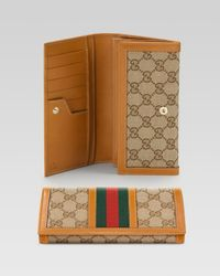 Gucci | Natural Heritage Continental Wallet | Lyst