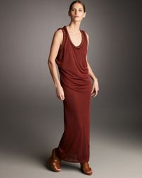 Jean Paul Gaultier | Red Chain-trim Gown | Lyst