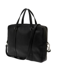 Jil Sander - Black Briefcase W/strap for Men - Lyst