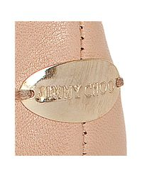 Jimmy Choo - Pink Whirl Leather Ballerina Flats - Lyst
