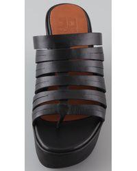 Joe's Jeans   Black Hoop Platform Thong Sandals   Lyst