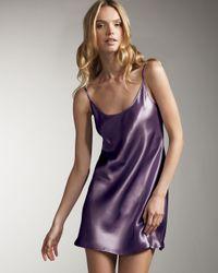 La Perla | Purple Silk Chemise, Nude | Lyst