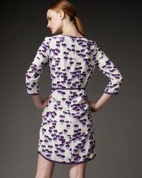 Marc Jacobs - Purple Pansy-print Shirtdress - Lyst