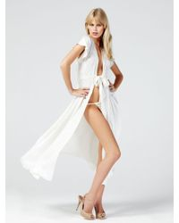 Myla | White Lilly Long Robe | Lyst