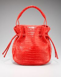 Nancy Gonzalez | Red Crocodile Drawstring Bag | Lyst