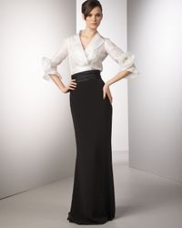 Redux Charles Chang-lima | White Rosette-sleeve Organza Blouse | Lyst