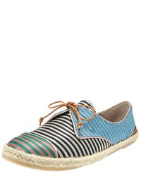 Tabitha Simmons | Multicolor Striped Silk Espadrille Sneaker | Lyst