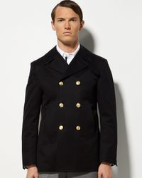 Thom Browne | Blue Deconstructed Peacoat for Men | Lyst