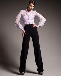 Zac Posen | Black High-waist Pants | Lyst