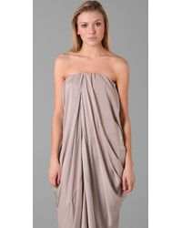 Acne Studios - Gray Delirious Draped Long Dress - Lyst