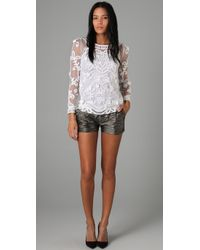 Alice By Temperley - White Fabienne Lace Top - Lyst