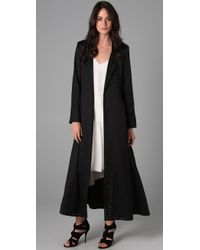 Elizabeth and James | Black Duster Coat | Lyst