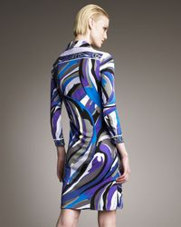 Emilio Pucci   Blue Printed Polo Dress   Lyst