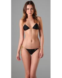 Insight | Black Leni Fawcett Triangle Bikini | Lyst
