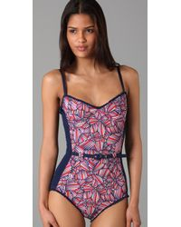 Marc By Marc Jacobs | Purple Arielle Bloom Maillot | Lyst