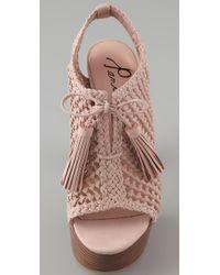 Pencey | Pink Alexus Open Toe High Heel Booties | Lyst