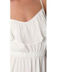 Shoshanna | White Ruffle Cami Dress | Lyst