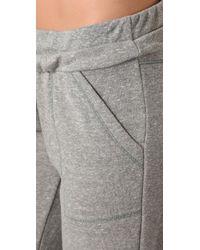 Splendid | Gray Melange Mock Twist Sweatpants | Lyst