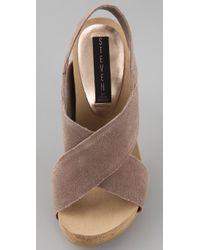 Steven by Steve Madden | Brown Calvin Suede Sandals | Lyst