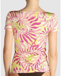 Blumarine | Pink Sleeveless T-shirt | Lyst