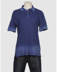 Closed | Blue Stone Washed Polo Shirt for Men | Lyst