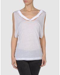 CoSTUME NATIONAL | White Sleeveless T-shirt | Lyst