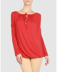 Pierre Darre' | Red Long Sleeve T-shirt | Lyst
