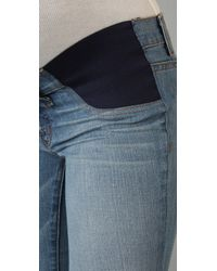 J Brand | Blue Mama J Bailey Boot Cut Maternity Jeans | Lyst