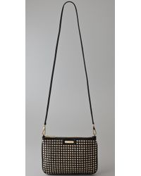 Rebecca Minkoff - Black Gold Stud Rocker Bag - Lyst