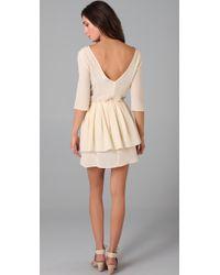 Thayer - Natural V Back Dress - Lyst