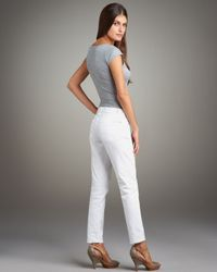 7 For All Mankind - Roxanne Clean White - Lyst