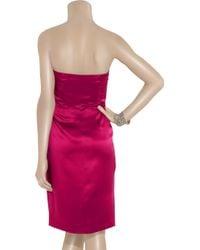 Philosophy di Alberta Ferretti - Purple Strapless Bow Dress - Lyst