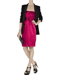 Philosophy di Alberta Ferretti | Purple Strapless Bow Dress | Lyst