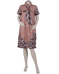 SUNO | Multicolor Printed Shirt Dress | Lyst