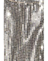 Alice + Olivia - Metallic Keren Sequined Silk Top - Lyst