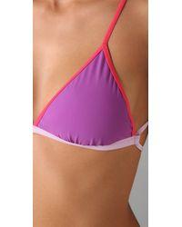Marc By Marc Jacobs - Purple Colorblock Bikini Top - Lyst
